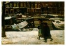 Isaac Israels (1865-1934)  -  Kinderen op een grac - Postkaart -  A8965-1