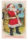 Anonymus  -  Kerstman houdt meisje in de lucht - Postkaart -  A89672-1