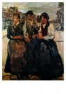 Isaac Israels (1865-1934)  -  Drie meiden in Amste - Postkaart -  A8971-1