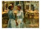Isaac Israels (1865-1934)  -  Dienstmeisje op een - Postkaart -  A8976-1