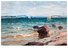 -  Seascape with Sailboats - Postkaart -  A89808-1
