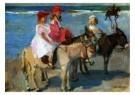 Isaac Israels (1865-1934)  -  Kinderen op ezeltjes - Postkaart -  A8984-1