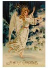 Anonymus  -  Engel steekt kaarsen aan in de kerstboom - Postkaart -  A89930-1