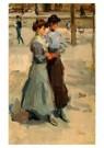 Isaac Israels (1865-1934)  -  Twee meisjes - Postkaart -  A8994-1
