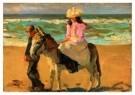 Isaac Israels (1865-1934)  -  Meisje op ezel - Postkaart -  A8995-1