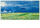 Vincent van Gogh (1853-1890)  -  Wheatfield under thunderclouds, 1890 - Postkaart -  A90482-1