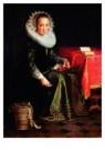 Joachim Wtewael (1566-1638)  -  Portret van Eva Wtew - Postkaart -  A9060-1