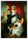 Cornelis Kruseman (1797-1857)  -  Portret kinderen - Postkaart -  A9077-1
