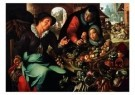Joachim Wtewael (1566-1638)  -  De groentevrouw - Postkaart -  A9079-1