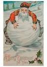 Anonymus  -  Kerstman ligt op een grote sneeuwbal - Postkaart -  A90833-1