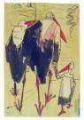 Theo van Hoytema 1863-1917  -  Wandelende ooievaars - Postkaart -  A9087-1