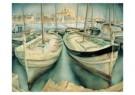 Wim Schuhmacher (1894-1986)  -  De haven van Pal - Postkaart -  A9108-1