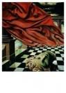Willem van Leusden (1886-1974) -  Het rode gordij - Postkaart -  A9114-1