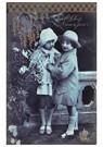 A.N.B.  -  Portret van twee meisjes (Gelukkig Nieuwjaar) - Postkaart -  A91178-1