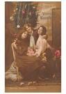 Anonymus  -  Drie kinderen in een interieur met kerstversiering - Postkaart -  A92051-1