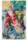 A.N.B.  -  Kerstman op fiets met cadeaus - Postkaart -  A92170-1
