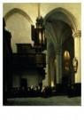 Johannes Bosboom (1817-1891)  -  Nieuwe Kerk Amsterdam - Postkaart -  A9220-1
