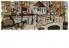 Theo van Doesburg (1883-1931)  -  The Blauwpoortsbrug with horse and carriage, 1917 - 1918 - Postkaart -  A92404-1