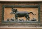 -  Gevelsteen met kat en muis - 17e eeuw - Postkaart -  A9262-1