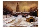 Paul Windhausen (1903-1944)  -  Breda in de winter - Postkaart -  A9296-1