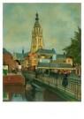 Anoniem,  -  Gezicht op Vismarkt - Postkaart -  A9304-1