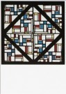 Theo van Doesburg (1883-1931)  -  Glas in loodcompositie III, 1917 - Postkaart -  A9334-1
