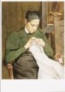 Martinus van Regteren 1866-190 -  De echtgenote van de kunstenaar aan het handwerken - Postkaart -  A9363-1