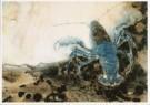 G.W.Dijsselhof (1866-1924)  -  Blauwe Kreeft, ca. 1890-1895 - Postkaart -  A9365-1