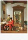 Abraham van Strij (1753-1826)  -  De kunstbeschouw, 1824 - Postkaart -  A9396-1