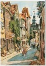Martin Monnickendam (1874-1943 -  Straatje in Rothenburg o. T. (Duitsland), 1922 - Postkaart -  A9424-1