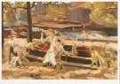 Marinus van Raalte (1873-1944) -  Kinderspeelplaats in Amsterdam, ca. 1906 - Postkaart -  A9430-1