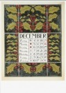 Theo Nieuwenhuis(1866-1951)  -  Kalenderblad (december 1898) - Postkaart -  A9446-1