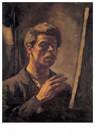 Theo van Doesburg (1883-1931)  -  Zelfportret, 1906 - Postkaart -  A95202-1