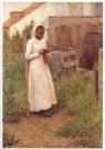 Henri le Sidaner (1862-1939)  -  Bretons meisje - Postkaart -  A9529-1
