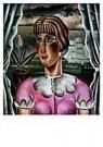 Reimond Kimpe (1885-1970)  -  Meisje voor het raam - Postkaart -  A9535-1