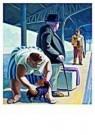 Adriaan van Esveld (1947)  -  Reizigers - Postkaart -  A9545-1