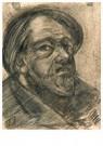 Theo van Doesburg (1883-1931)  -  Portret van man met baard, 1905 - Postkaart -  A96135-1
