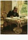 Willem Bastiaan Tholen 1860-1  -  Schrijvende dame in interieur, ca. 1895 - Postkaart -  A9707-1