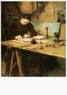 Pieter Meiners (1857-1903)  -  Mevrouw Arntzenius-Witsen in het atelier op Ewijks - Postkaart -  A9708-1