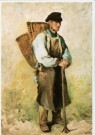 Daubigny (1817-1878)  -  De druivenplukker, voor 1863 - Postkaart -  A9715-1