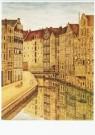 Sal Meijer (1877-1965)  -  Ouwezijds Achterburgwal (Kolk), ca. 1930 - Postkaart -  A9722-1