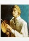 David Kouwenaar (1921-2011)  -  Zelfportret (met palet), 1938 - Postkaart -  A9769-1