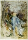 David Kouwenaar (1921-2011)  -  Raoul met fiets, 1981 - Postkaart -  A9772-1
