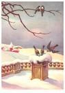 Anonymus  -  Vogels in een sneeuwlandschap - Postkaart -  A97883-1