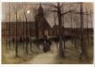 Arina Hugenholtz (1848-1934)  -  Kerkuitgang Lare - Postkaart -  A9812-1