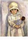 Jan Sluijters (1881-1957)  -  Meisje met pop - Postkaart -  A9816-1