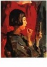 Isaac Israels (1865-1934)  -  Japans meisje met l - Postkaart -  A9822-1