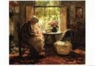Evert Pieters (1856-1932)  -  Moeder en kind - Postkaart -  A9825-1