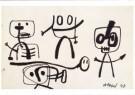 Karel Appel (1921-2006)  -  Zonder titel, 1948 - Postkaart -  A9870-1