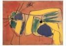 Karel Appel (1921-2006)  -  Ontluikende lente - Postkaart -  A9871-1